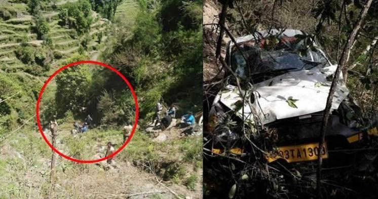 उत्तराखंड : कार खाई में गिरने से एक शख्स की मौत, एक घायल, श्राद्ध में शामिल होकर लौट रहे थे