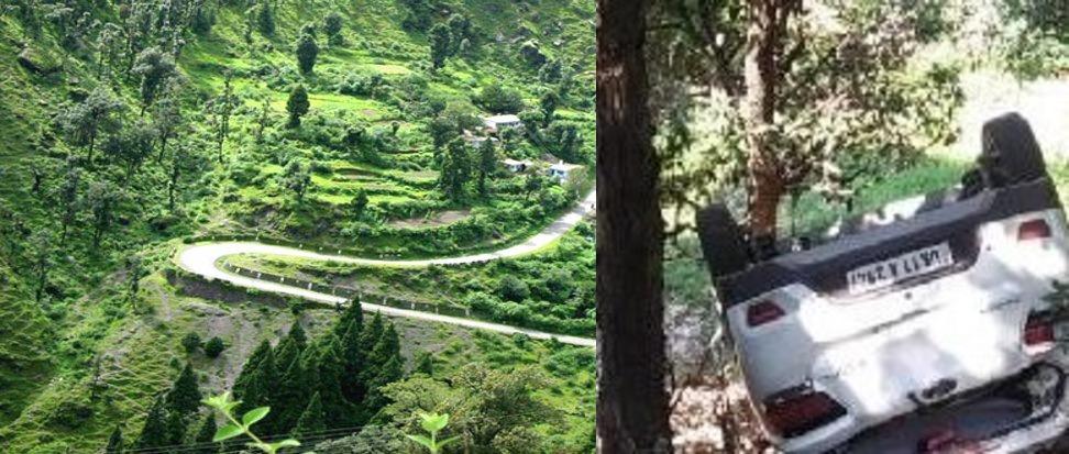 पहाड़ पर चलती कार का स्टेयरिंग फेल, चमत्कार ने बचाई 5 जिंदगियां, 2 थे छोटे बच्चे
