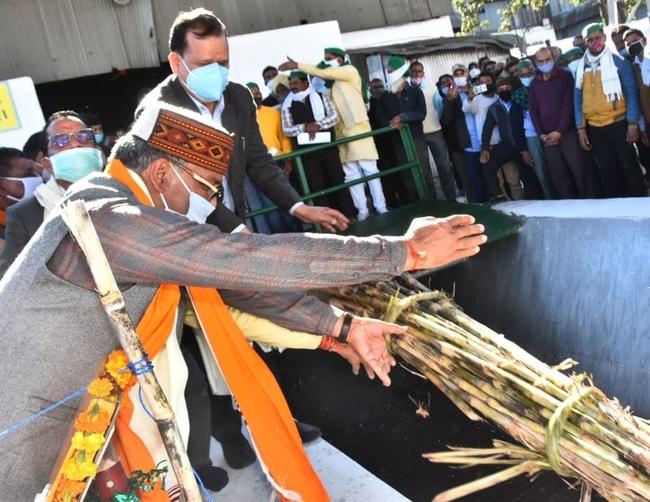 मुख्यमंत्री त्रिवेन्द्र ने किया डोईवाला शुगर मिल के पेराई सत्र का शुभारंभ, कहा राज्य सरकार ने किसान हित में हर संभव प्रयास किये
